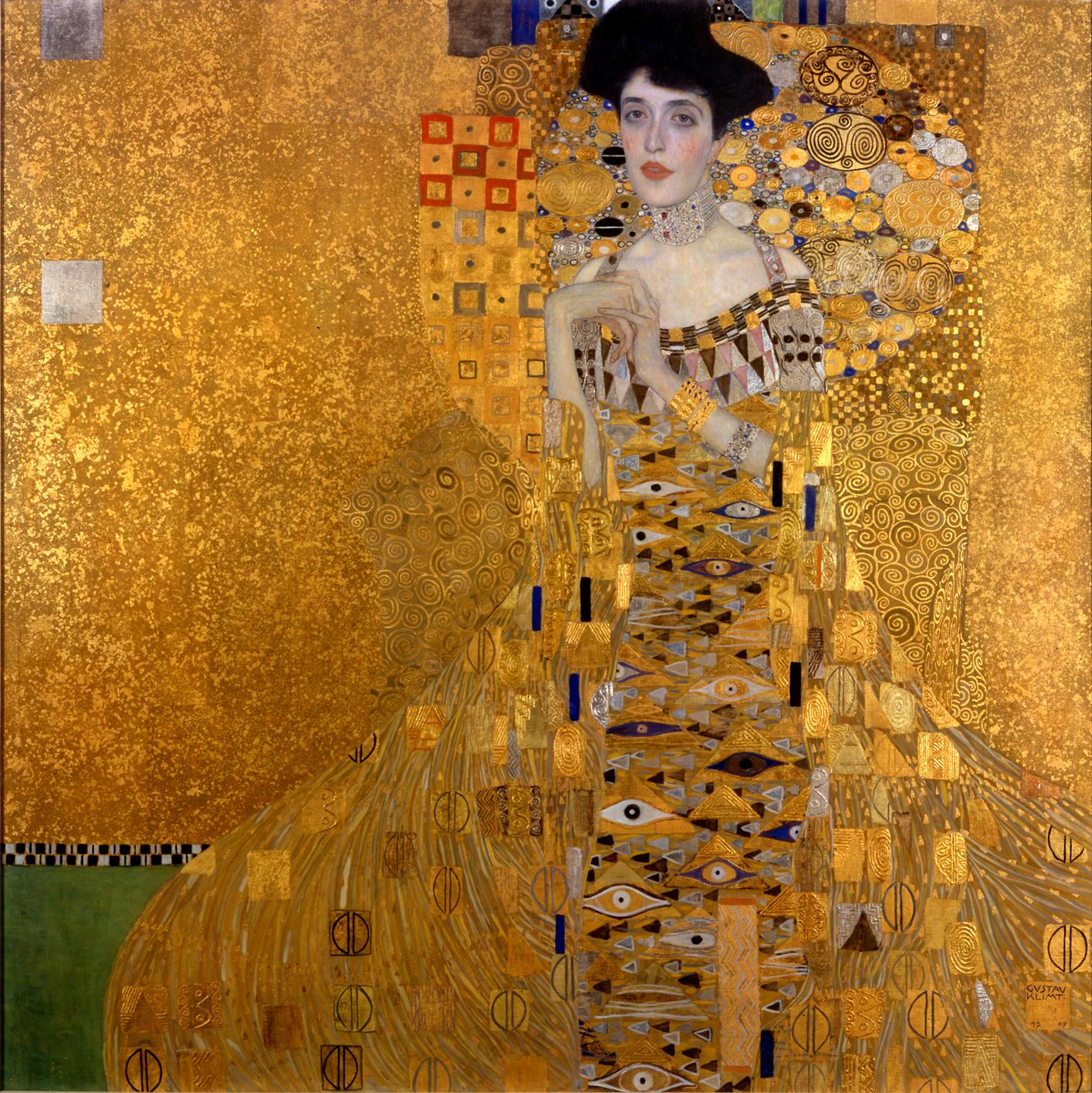 Protrait of Adele Bloch-Bauer I (1907) by Gustav Klimt.