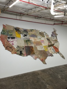 "Installation view of ""Nate Lowman: America Sneezes"" at Dallas Contemporary. (Photo by Nate Freeman)"