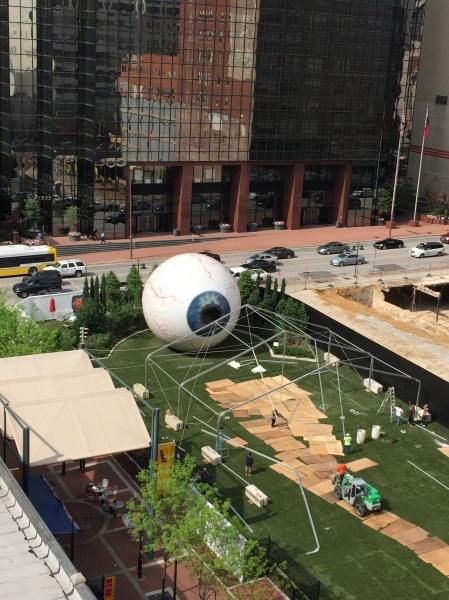 Tony Tasset Eye, as seen from the rooftop of The Joule, where I am currently writing this story. (Photo by Nate Freeman)