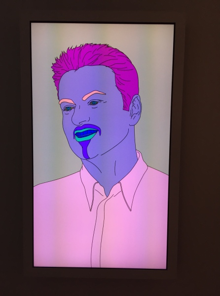 Michael Craig-Martin's portrait of George Michael, in thge Goss-Michael Foundation headquarters. (Photo by Nate Freeman)