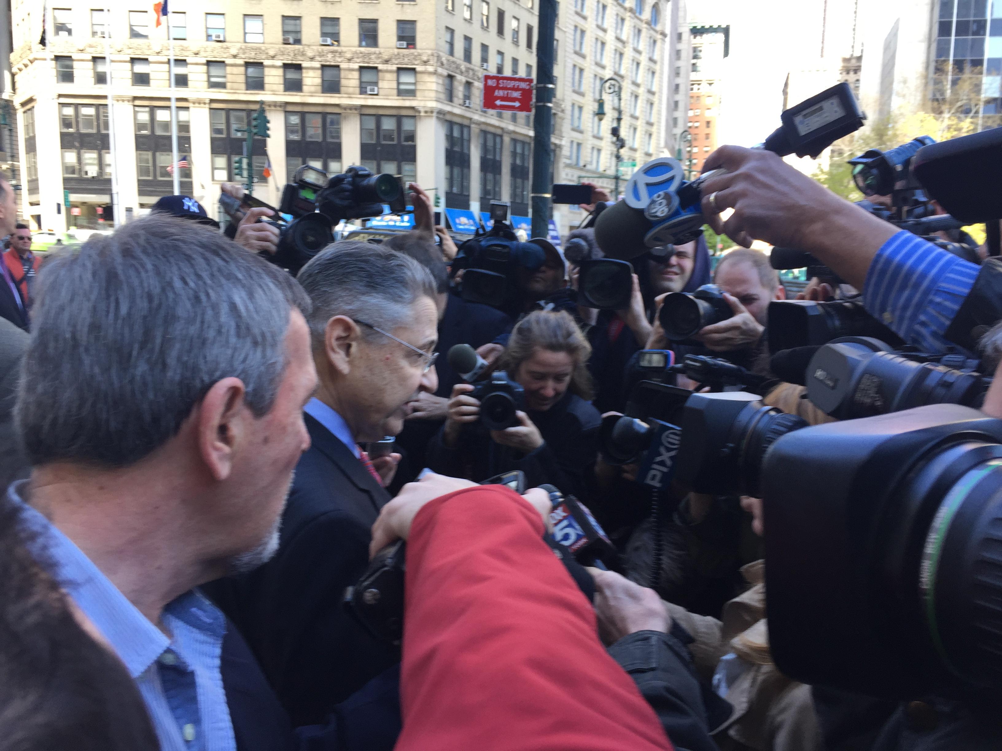 Former Assembly Speaker Sheldon Silver outside federal court this morning. (Photo: Jillian Jorgensen/New York Observer)