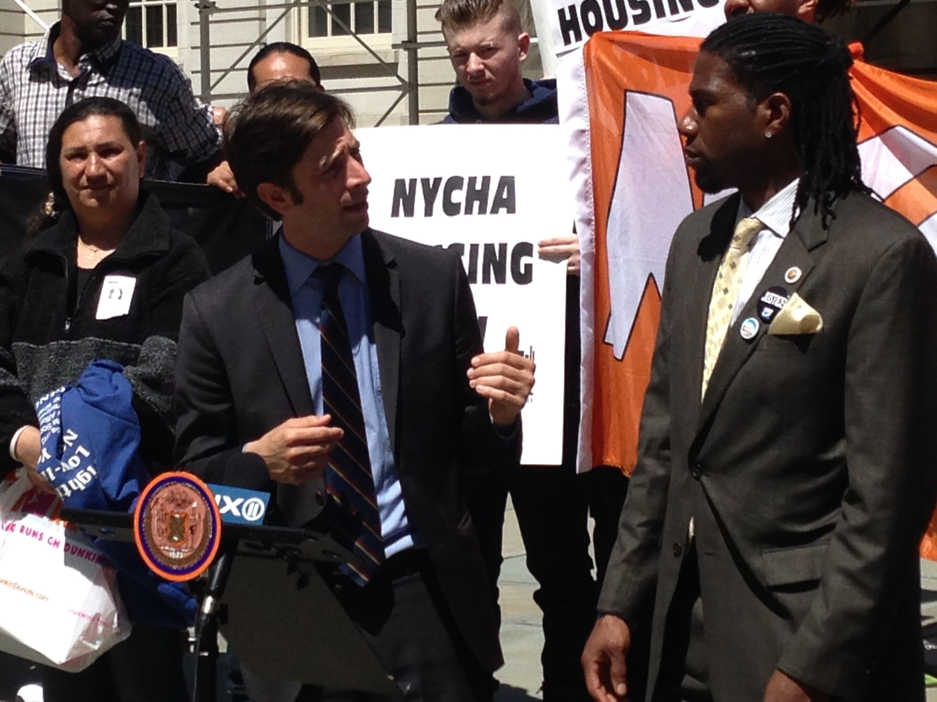 Councilman Stephen Levin, left, and Councilman Jumaane Williams today (Photo: Will Bredderman/New York Observer).