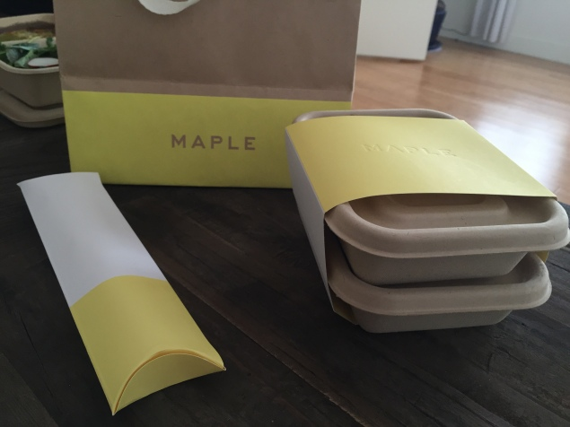 Maple, a new meal delivery startup, launches today in Lower Manhattan. (Photo: Jordyn Taylor)