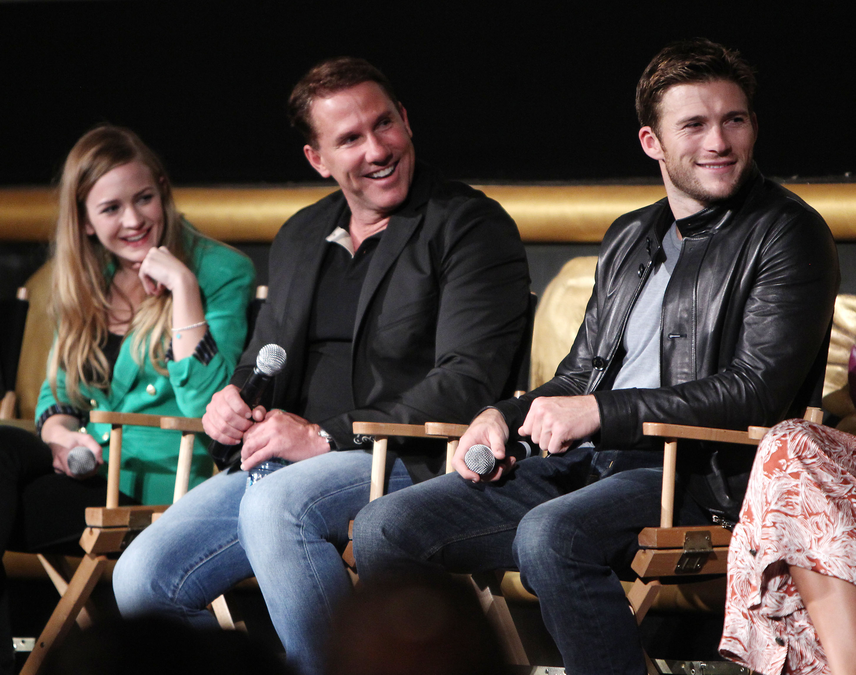 """The cast of """"The Longest Ride"""" (Photo: Patrick McMullan)."""