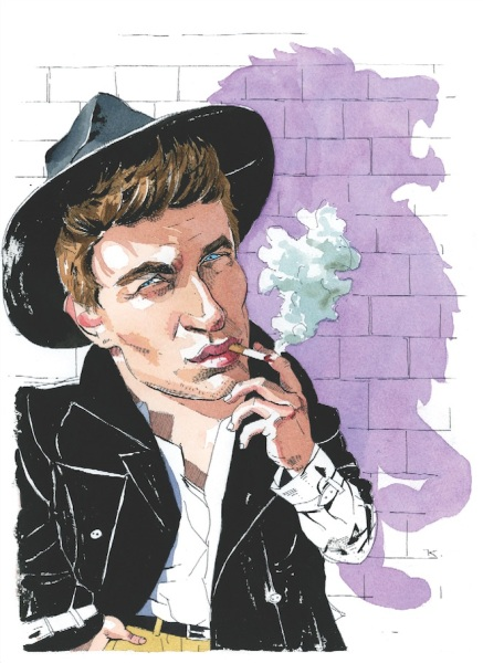 Max Irons and the shadow of his father. (Illustration by Paul Kisselev.)