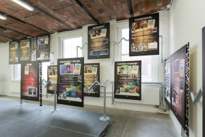 """Installation view of 'Simon Denny"""" The Innovator's Dilemma.' (Photo by Pablo Enriquez for MoMA PS1)"""