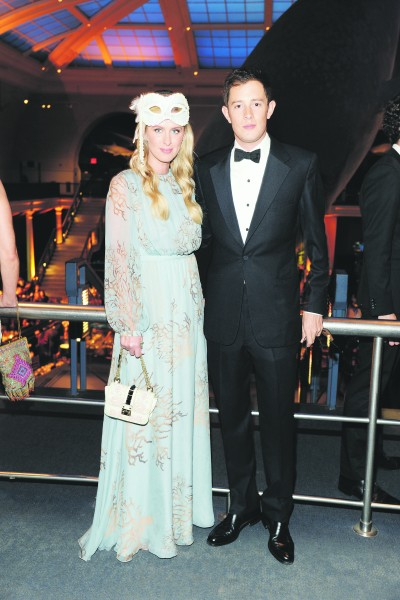 Nicky Hilton and James Rothschild at the American Natural History Museum dance. (Photo: Patrick McMullan)