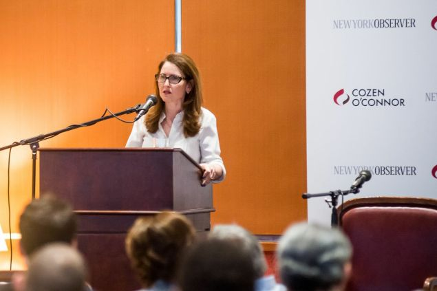 Eva Moskowitz at a recent breakfast panel co-sponsored by The New York Observer (Photo: Paulo Basseto)