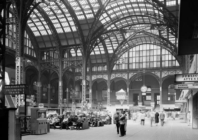 The original Penn Station (Wikimedia).