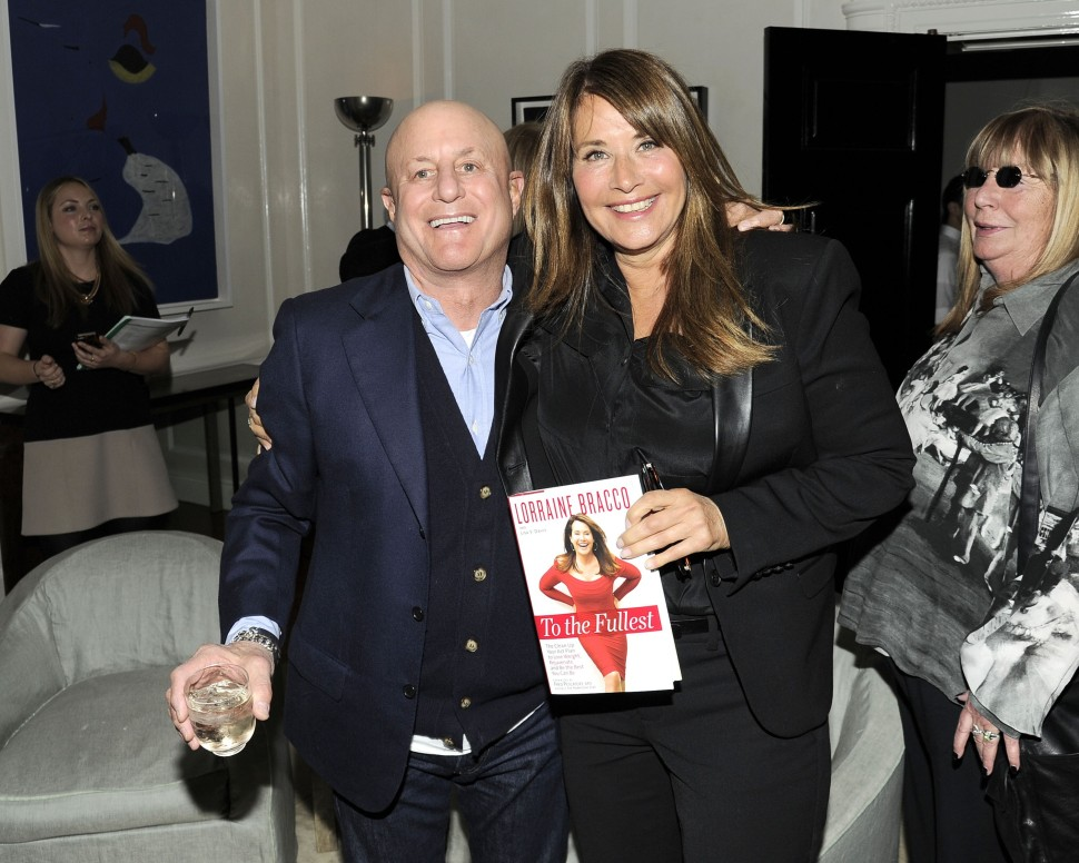 Old pals. Ronald Perelman and Lorraine  Bracco celebrate her new book,' To The Fullest,' as Penny Marshall looks on approvingly. (Nicholas Hunt/PatrickMcMullan.com)