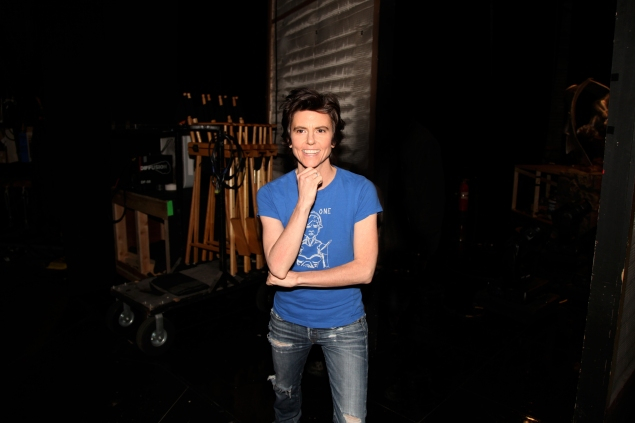 Tig Notaro stands center stage. (Showtime)