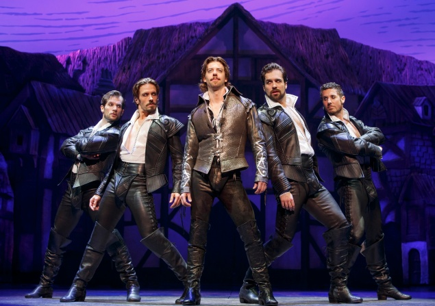 "Christian Borle will win featured actor in a musical for his ""Will Power"" as Shakespeare in Something Rotten. (Joan Marcus)"