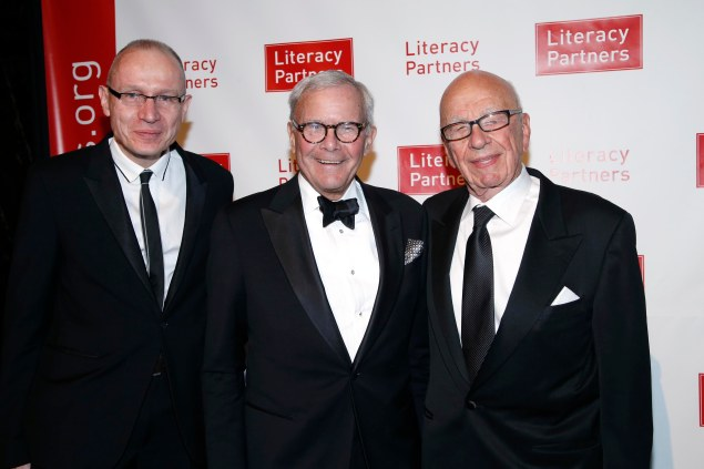 Robert Thomson, Tom Brokaw and Rupert Murdoch. (Photo: Patrick McMullan)