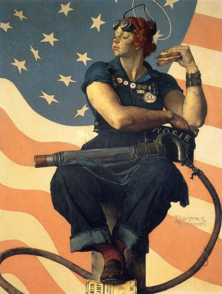 Mary Doyle Keefe, who posed for Norman Rockwell's iconic 'Rosie the Riveter' painting, died Tuesday at the age of 92. (Photo: Wikiart)