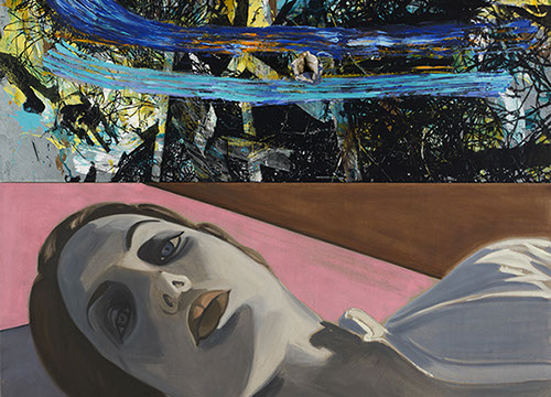 David Salle Pink Field, 2013. Courtesy of the artist and Skarstedt, NY. Art copyright David Salle, liscensed by VAGA, NY