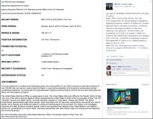 The job posting on Mr. Scarborough's Facebook page (Screengrab: Facebook).