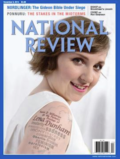 GIRLS creator Lena Dunham is the target of my activist criticism. (National Review)
