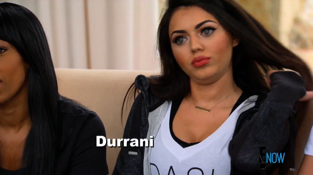 Durrani's in the house (Screengrab: E! Online).