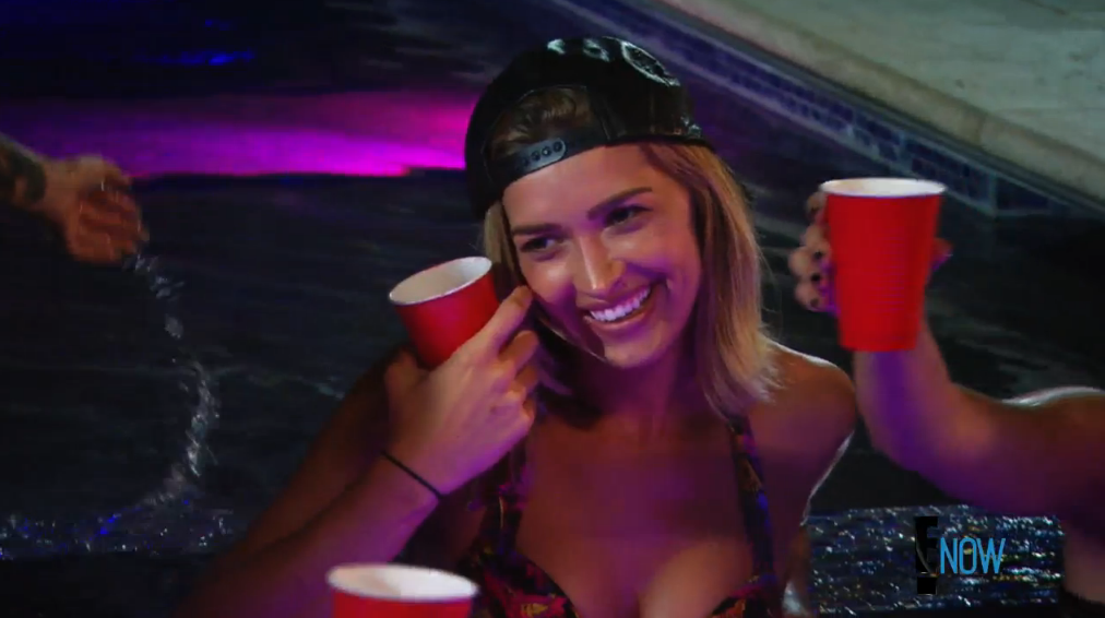 "Melody emerges as the ""good guy"" of the Dash dolls, as evidenced by her low-key backwards cap (Screengrab: E! Online)."