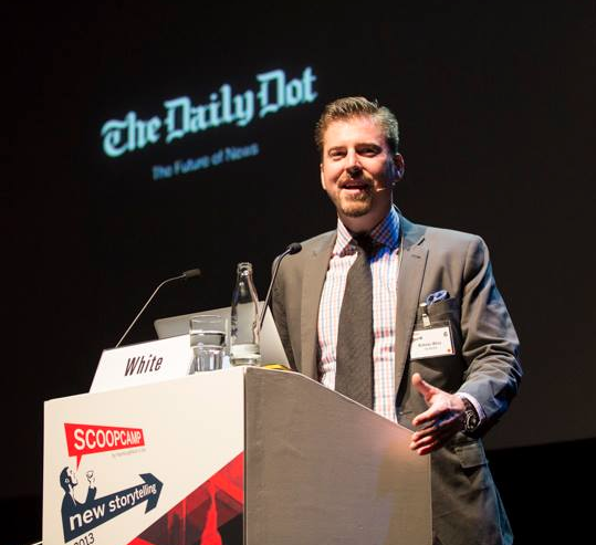 Nick White, the CEO and Editor and Chief of the Daily Dot, comes from a long line of news hounds. (Photo: Facebook)
