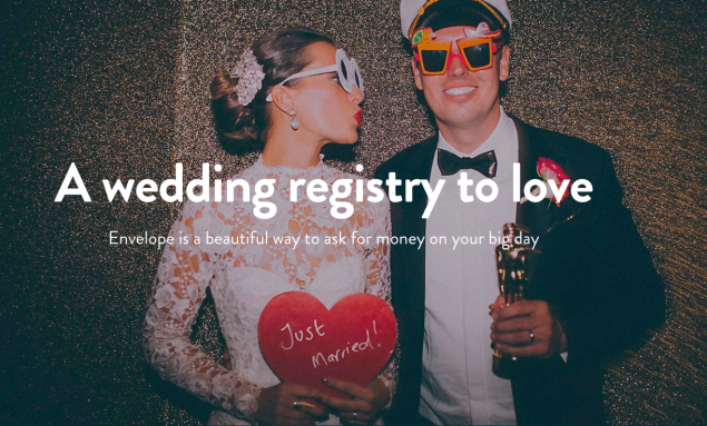 For those who don't need toasters as wedding presents. (Photo: Enveloperegistry.com)