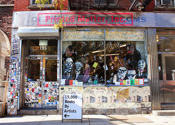 Printed Matter, Inc.'s storefront at its current location at 195 10th Avenue in Chelsea. (Photo: Printedmatter.org)