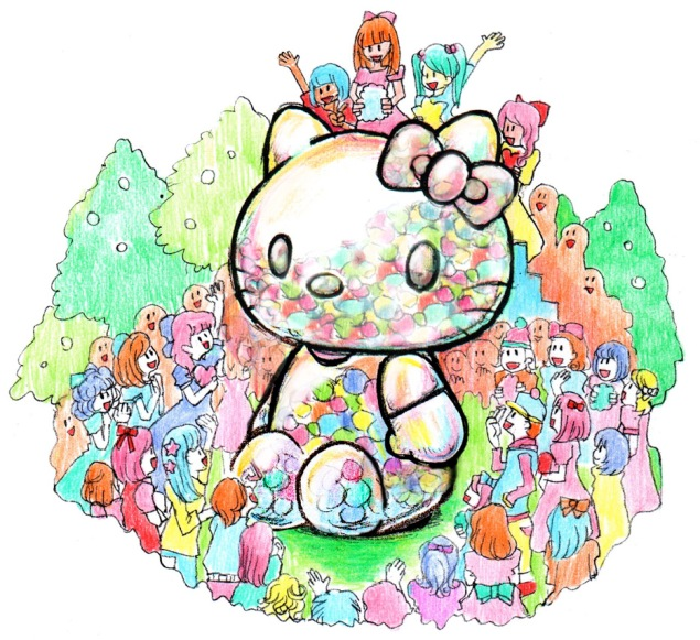 A rendering of Sebastian Masuda's Time After Time Capsule Hello Kitty sculpture for New York. (Photo: (c)2015 Sebastian Masuda/LLS. All Rights Reserved)