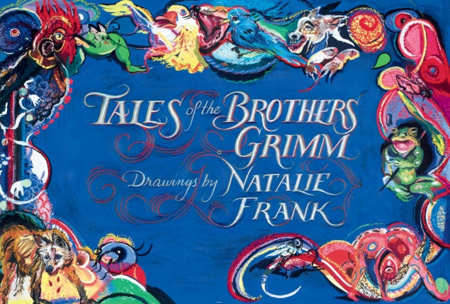 The title page of 'The Tales of the Brothers Grimm: Drawings by Natalie Frank' published by Damiani, and distributed by Artbook D.A.P. (Photo: courtesy the artist)