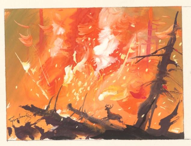TyrusWong,Bambi(visualdevelopment),(1942).(Photo: CourtesyofTyrusWongFamily,©Disney)