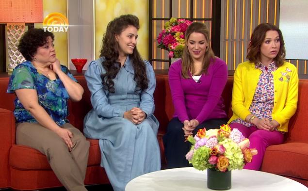 Ms. Adams (second from left) made her TV debut as Gretchen Chalker on Unbreakable Kimmy Schmidt. (Photo: Netflix)