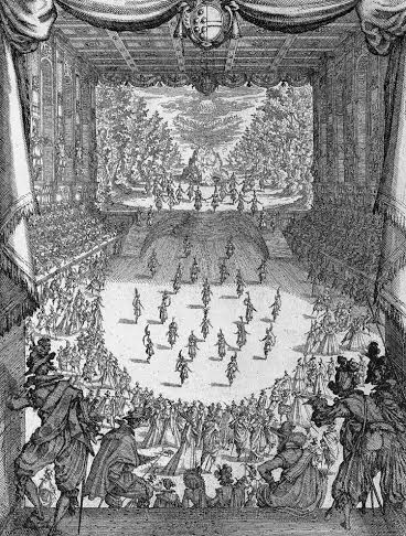 Jacques Callot, Interlude in the Medici Theatre, etching, c. 1617 (Photo courtesy of Performa).