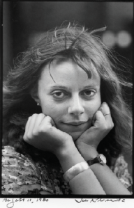 Joyce Maynard photographed by Jill Krementz on August 11, 1980 in New York City. Maynard wasn't much older in this photograph than then girls she meets in her story.