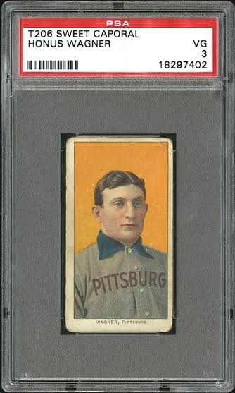 The T206 Honus Wagner sold for $1.3 Million on April 25, 2015. (Photo Courtesy of Robert Edward Auctions)