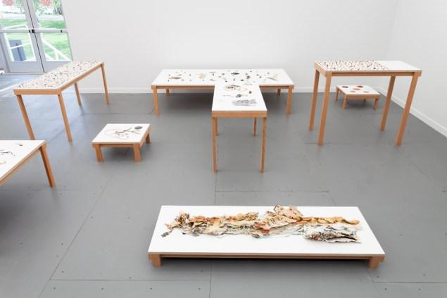 Yuji Agematsu at Real Fine Arts at Frieze New York. (Photo: Real Fine Arts)