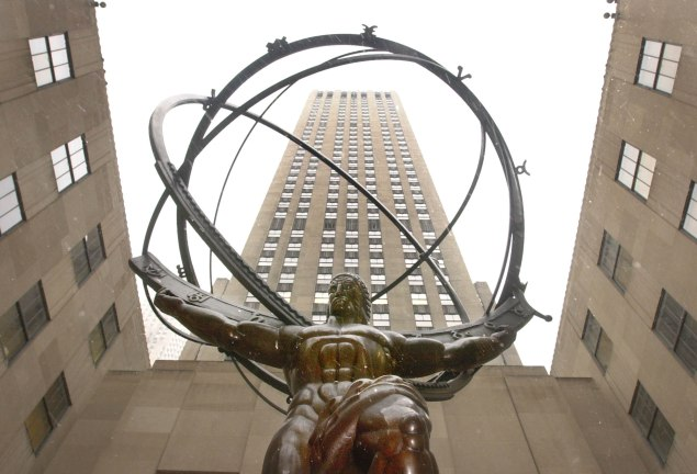 A statue of Atlas (Photo by Chris Hondros/Newsmakers)