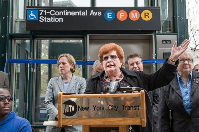 Councilwoman Karen Koslowitz. (Photo: MTA/Flickr)