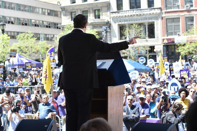 Gov. Andrew Cuomo at Union Square. (Photo: NYS Governor's Office/Flickr)