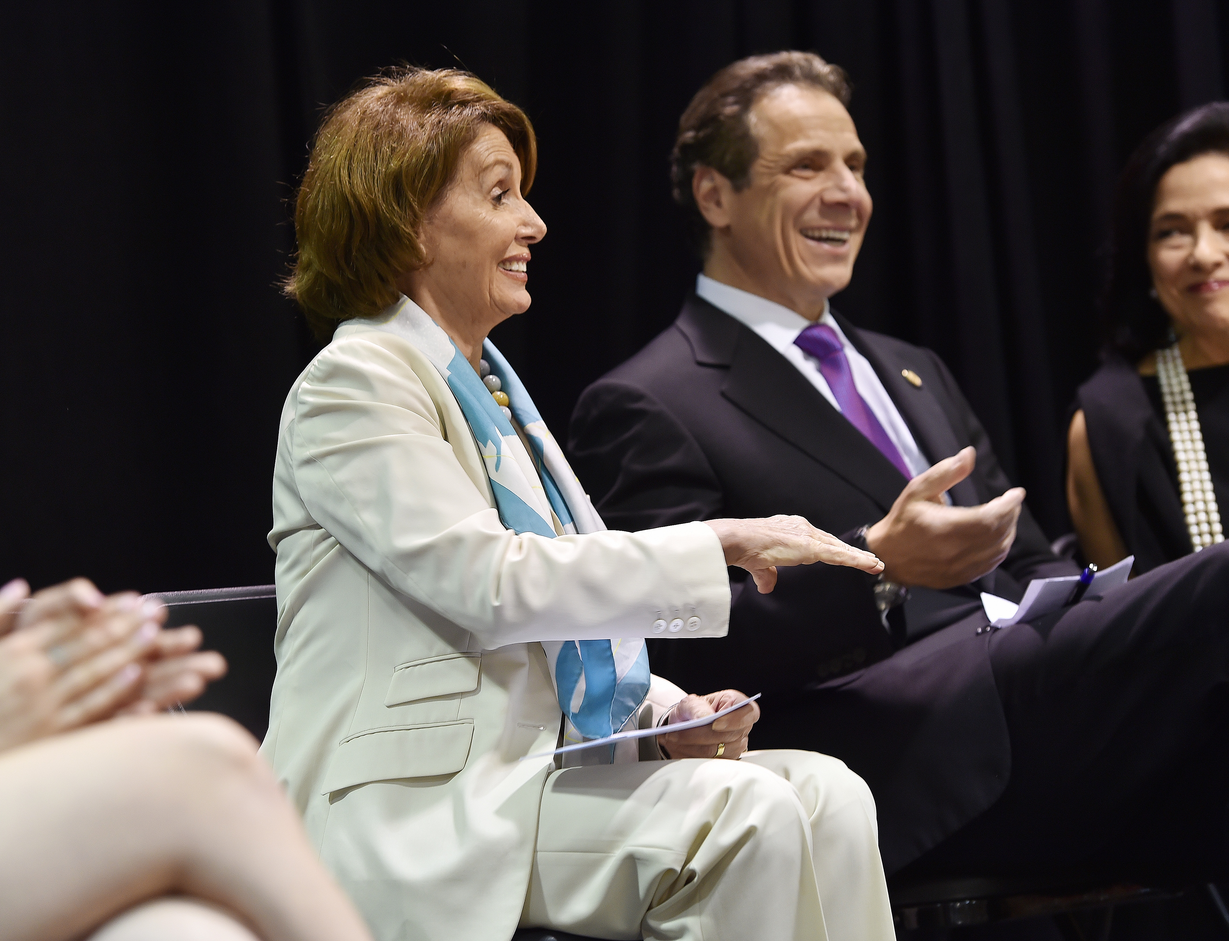 """Governor Andrew M. Cuomo and  Lieutenant Governor Kathy Hochul announce the """"Enough is Enough"""" Campaign against sexual assault on campus at the Fashion Institute of Technology in New York City. (Kevin P. Coughlin/Office of the Governor)"""