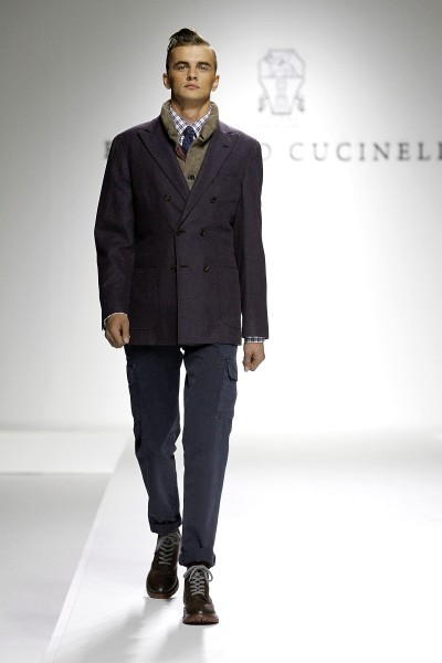 Cropped pants by Brunello Cucinelli.  (Photo by Yves Forestier/Getty Images for Style.Uz Art Week 2013)