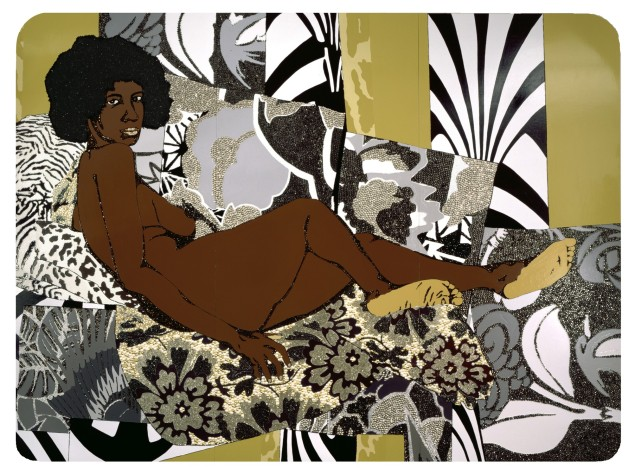 Mickalene Thomas, A Little Taste Outside of Love (2007).(Photo: © Mickalene Thomas, courtesy Brooklyn Museum)
