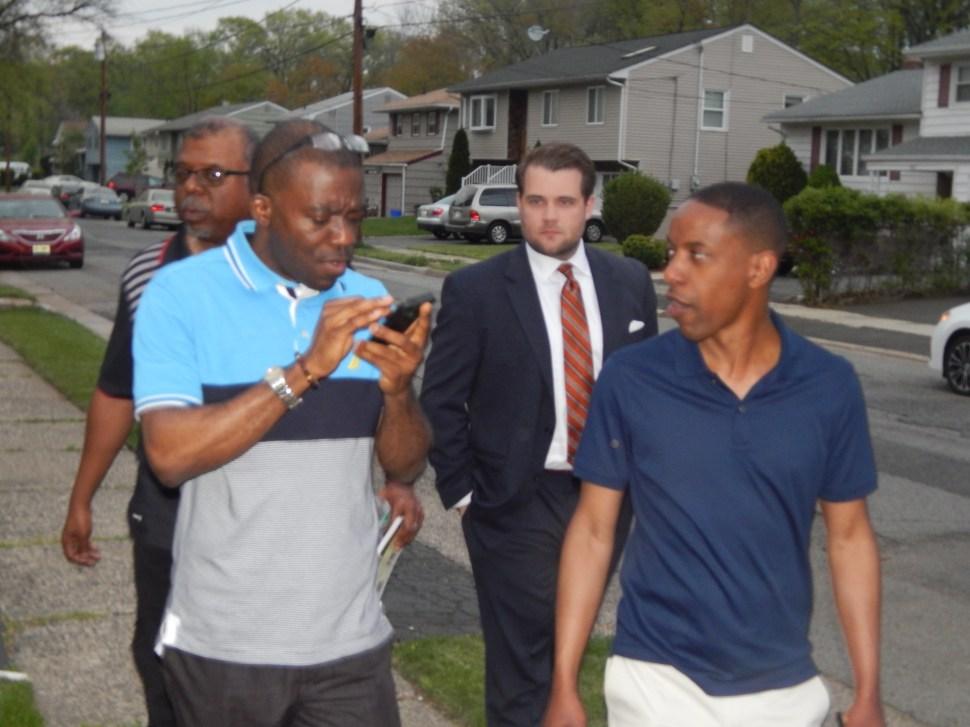From left: Sam Bishop, Azuka, Democratic Party operative Michael Makarski, and Holley.