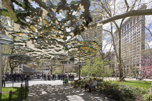 Teresita Fernández's Fata Morgana goes on view to the public at Madison Square Park on Monday. (Photo: Madison Square Park Conservancy)