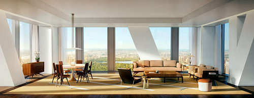 An interior rendering of 53W53.