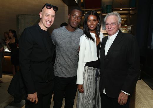 From left to right: Robert Verdi, David Agodji, Liya Kebede and David Yurman  (photo: Getty Images)