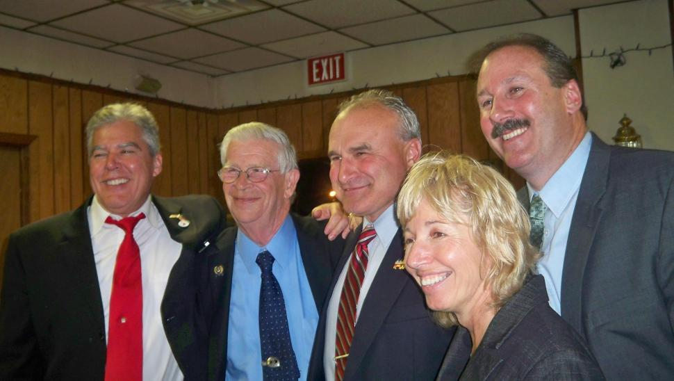 From left to right: Anderson, Thompson, Mayor Own Henry, Walker, and Cahill (Old Bridge Republicans/Facebook).