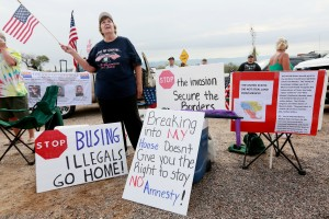 Anti-immigration activist in Arizona. (Photo by Sandy Huffaker/Getty Images)