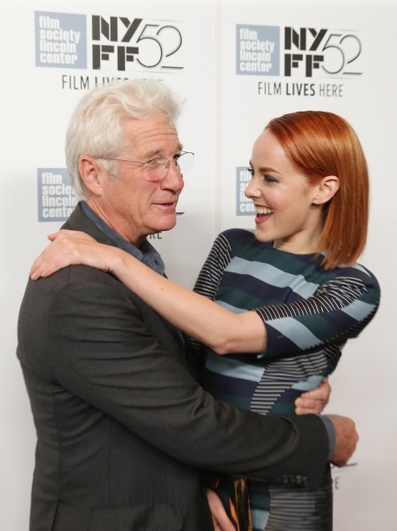 Mr. Gere with Time Out of Mind co-star Jena Malone in 2014. (Photo: Neilson Barnard/Getty Images)
