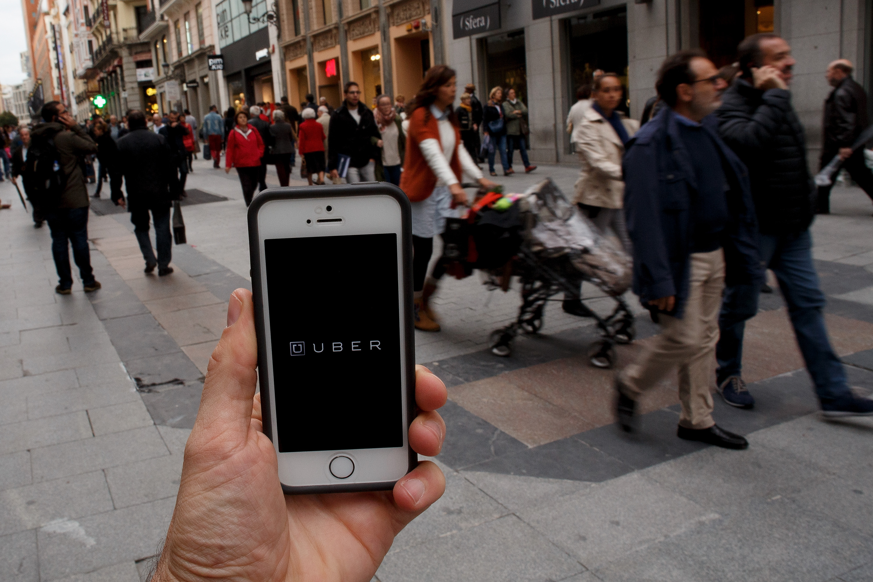 The Uber app. (Photo: Dominguez/Getty Images)