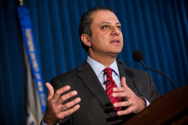 U.S. Attorney Preet Bharara. (Photo: Andrew Burton/Getty Images)
