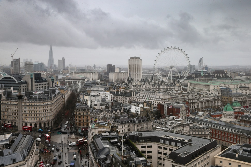 A general view of the London Skyline on a wet day on February 6, 2014 in London, England.  (Photo: Chris Jackson/Getty Images)